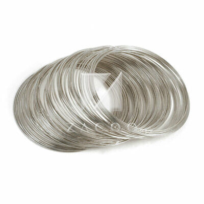 0.6mm Nickle Steel Memory Wire 100 Loops For DIY Bracelet Making Cuff Bangle