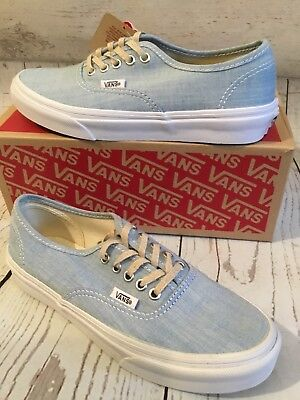 8226bfdf093 VANS AUTHENTIC IRIDESCENT Glitter Blue White Shoes Mens 3.5 Womens ...