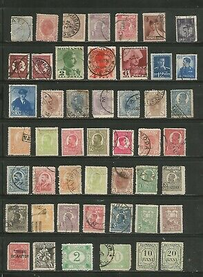 Nice large lot -Mh/used Romania 1800's-1940's includes BOB and nice cancels