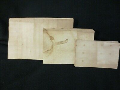 Lot of 75 Tea/Coffee Dyed Index Cards - 3 Sizes - Handmade - I33