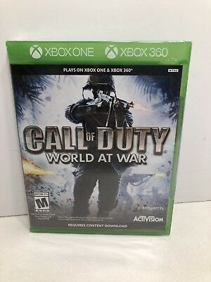 Call of Duty World at War for Xbox One and Xbox 360, NEW!
