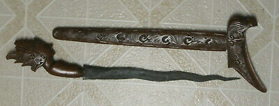 Antique Asian Keris Kris Ceremonial Sword/dagger With Carved Handle & Scabbard