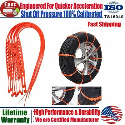 10Pcs Winter Anti-Skid Chains for Car Snow SUV Traction Emergency Thickened Tire