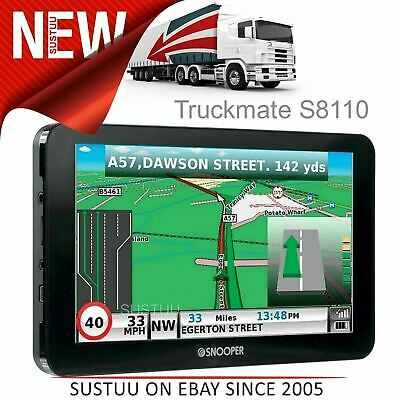 "Snooper Truckmate S8110 EU│7"" HGV GPS SatNav│FREE Lifetime UK/Europe Map Updates"