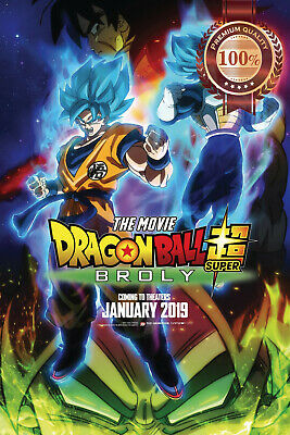 New Dragon Ball Super Broly 2019 Official Cinema Movie Film Print Premium Poster
