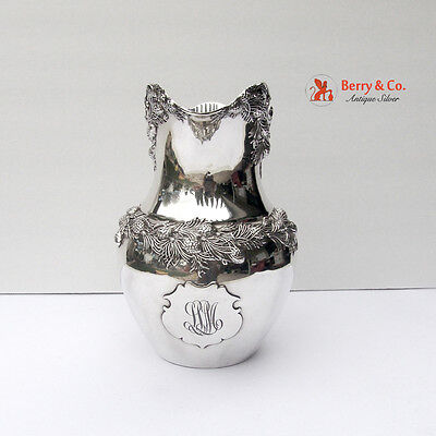 Water Pitcher Sterling Silver Redlich 1900