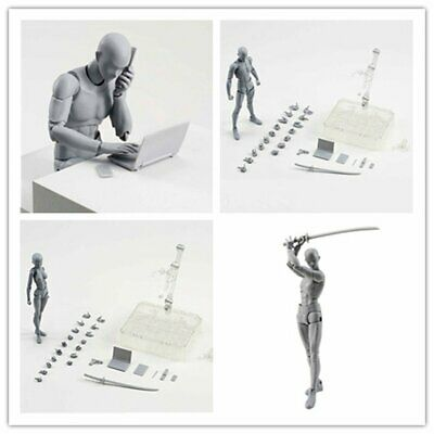 US Drawing Figures For Artists Action Figure Model Human Mannequin Man Woman Kit
