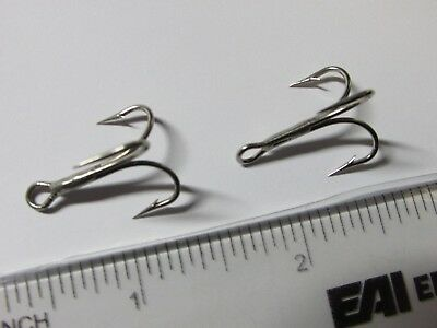 Mustad Treble Hooks 50 of 3553A//3551NI Superior Ringed Nickel Plated Size 4