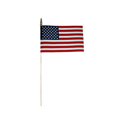 Flag American Usa 8x12 Us Nylon Sewn Stripes Embroidered Stars Brass Commercial