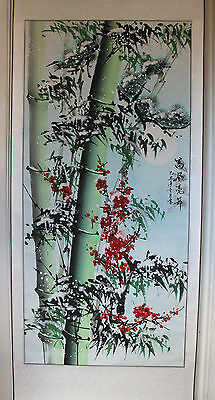 A Superb 175.5 cm Contemporary 2009 Chinese Painting Scroll Artist Stamped