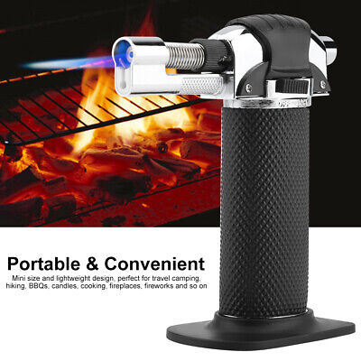 Torch Gun Lighter Gas Trip Flame Windproof Refillable Micro Butane Stove Igniter