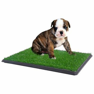 Pet Potty Toilet Trainer Grass Mat Dog Indoor Training Pee Patch Pad Tray Turf