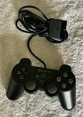 Official Sony PlayStation PS2 Black Dualshock 2 Controller SCPH-10010