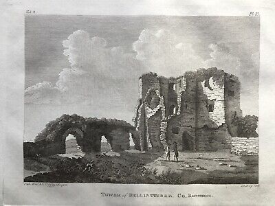 1791 Antique Print; Ballintober Tower, Co. Roscommon by Daniel Grose