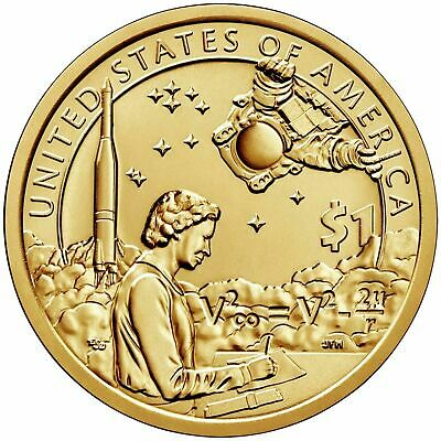 "Usa Sacagawea Us Native American Dollar 2019 Space Program ""p"" Coin Unc"