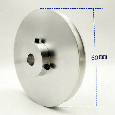 60mm Diameter-Bore 8//10//12//14//15//16//17//18//19//20//24//25//26mm V-Groove Flat Pulley