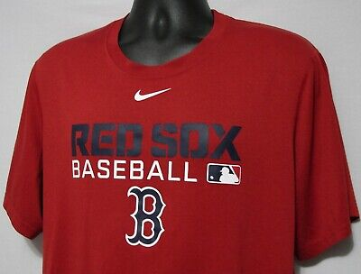 outlet store 75ef3 4d607 NEW BOSTON RED Sox Nike T-Shirt Dri-Fit L Large #883