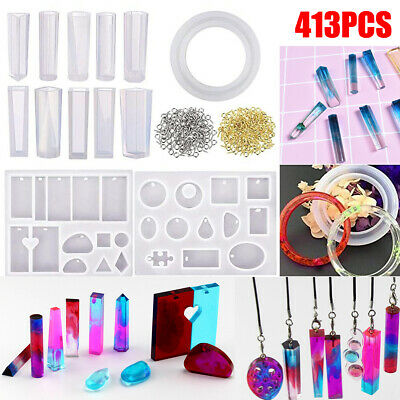 AU Resin Casting Mold Kit Silicone Mold Making Jewelry Pendant Mould Craft Set