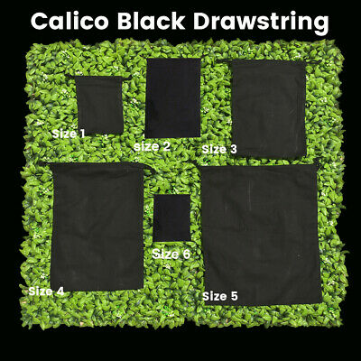 Black Calico Drawstring Bag Black Tote Drawstring Calico Bags Tote Bag  1-200