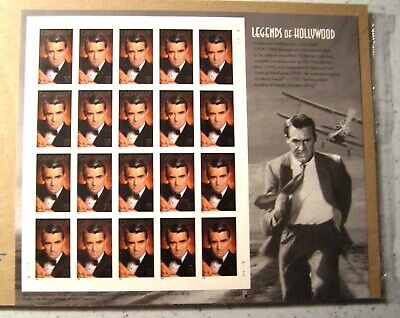 3692 Cary Grant Legends Of Hollywood Full Pane Of (20) 37 Cent Stamps Sealed