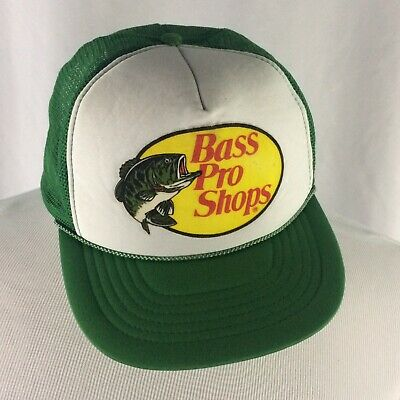 60a70bcfae809 Vintage Bass Pro Shops Mesh Trucker Hat Cap 90s Green Fishing Hipster  Snapback