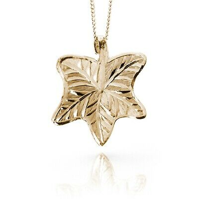 Irish Gold Pendant - Ivy - Sacred Trees Collection
