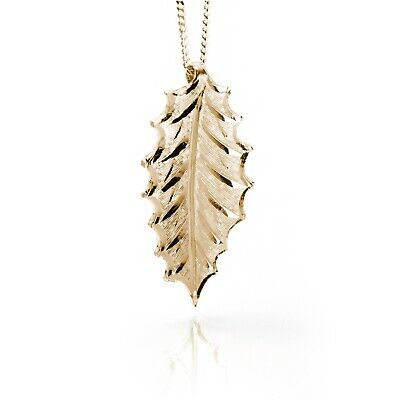 Irish Gold Pendant - Holly - Sacred Trees Collection