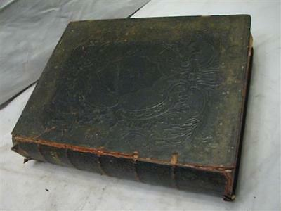 Antique 1851 Leather Family Bible Worst/Horst