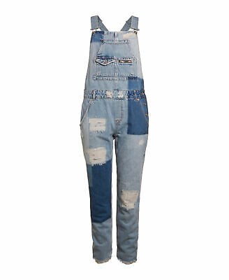 release date: hot sale online retailer NEW WOMENS SUPERDRY Factory Second Jodie Boyfriend Dungarees Indigo Repair