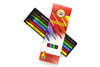 Koh-I-Noor Progresso Set of 6  Woodles Coloured Pencils(8755)