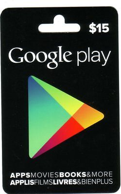 Google Play Canada Apps Movies Books & More Rare Bilingual Collectible Gift Card