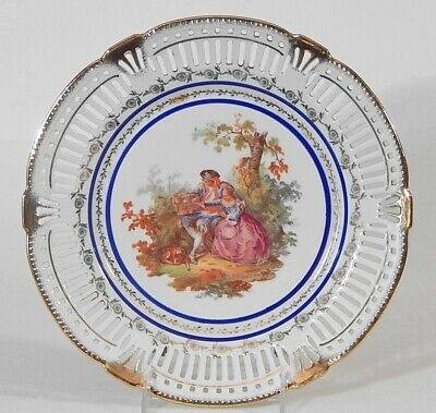 Vintage LOVE STORY Courting Scene Decorative Plate US ZONE GERMANY