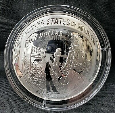2019 Apollo 11 50th Anniversary 5 oz PROOF Silver Dollar - US MINT Free shipping