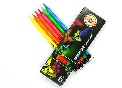 Koh-I-Noor Progresso Set of 6 Fluorescent Woodless Pencils(8741)