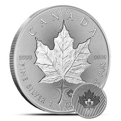2019 1 oz Silver Canada Incuse Maple Leaf $5 Coin .9999 Fine Gem BU
