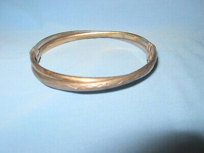 Sterling Silver and 14kt Gold Filled Twisted Loop Bangle Bracelet - Safety Catch