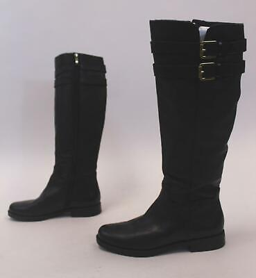 ff764f69e93 Franco Sarto Women s Christoff Leather Riding Boots AB3 Black Size US 8M   190