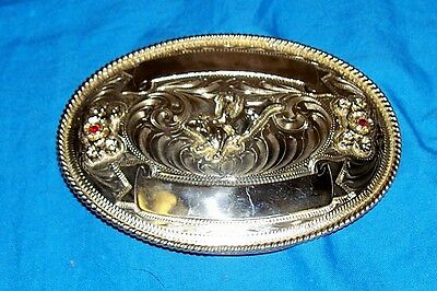 "Big 5"" Cowboy Western Belt Buckle Huge Large Silver Color Rodeo Mens Champion"