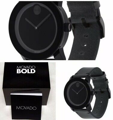 BRAND NEW Movado Bold Mens Watch 3600306 Free Shipping Box & Papers