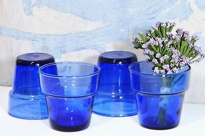 Flower Pots/Candle Holders/Planters/Glass/Cobalt Blue/Cottage/Garden & FLOWER POTS/CANDLE HOLDERS/PLANTERS/GLASS/COBALT Blue/Cottage/Garden ...