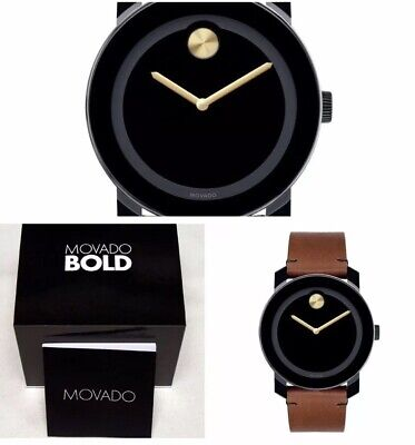 Movado Bold Mens Watch 3600305 Brand New Free Shipping! Box & Papers!!