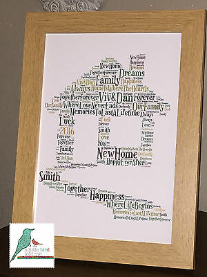 Housewarming Personalised Keepsake Gift - Framed and Unframed Prints