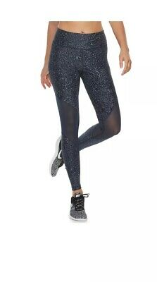 81cf3d119743a4 Nike Power Printed Tight Fit Training Tights-Mdnt Nvy/Slvr-Women's XS 934197