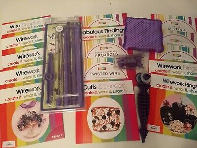 Set of 15 Jewellerymaker wirework DVDs & Artistic Wire tools