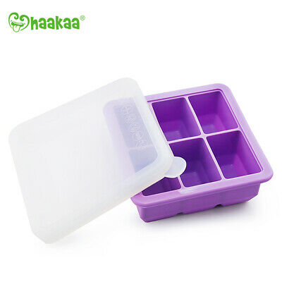 Haakaa: Silicone Baby Food Freezer Tray 6 with Lid - Purple