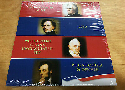 2010 P & D US Mint Presidental $1 Uncirculated 8 Coin Set Unopened Sealed Set