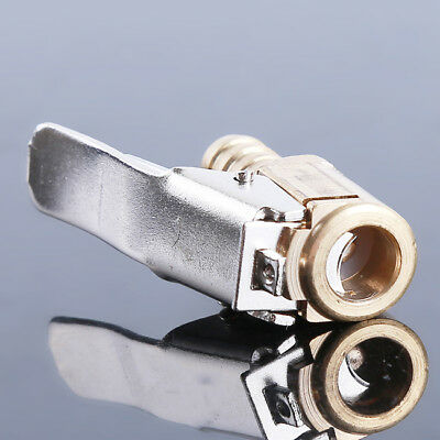 Brass 6/8mm Car Tyre Inflator Valve Connector Air Chuck Tire Clip Lock-on CF