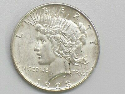 Uncirculated 1923-D Peace Dollar Die Cracks-Extra Nice Coin