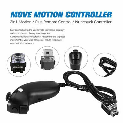 2in1 Motion Plus Remote Control + Nunchuck Controller for Nintend Wii Game SM