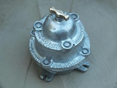 Huge Vintage 1 Gang Cast Iron & Brass Industrial Light Switch By Walsall